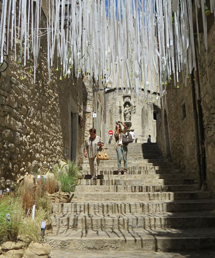 Pujada de la Catedral Girona Temps de flors