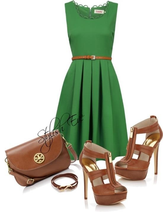 Cocktail dress outfit ideas green