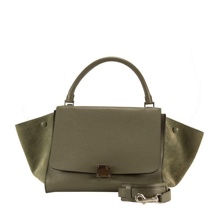 Celine Handbag Trapeze Long Strap Grey Color 2013. - Celine Handbag Trapeze Long Strap Grey Color 2013.  Pre-owned and used.  Bought it in Celine store in 2013.  Model:Trapeze.  Color: Grey.   This item is photographed with professional lighting. The colors can vary as a result of the way the screen emits the light.  Anyway, we would like to remember that the brand has his own color patterns, which are the same in all the world.