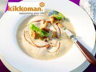 Картофельный крем-суп с лисичками