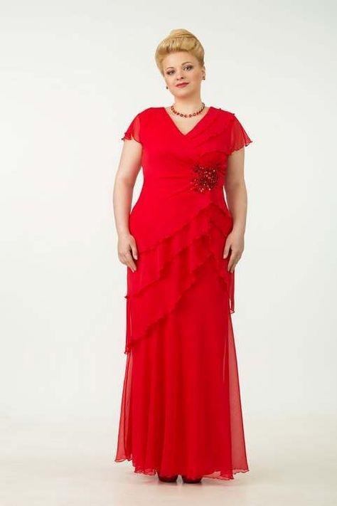 Večerní a koktejlové šaty pro větší žen běloruské společnosti Tetra Bell.  léto 2015