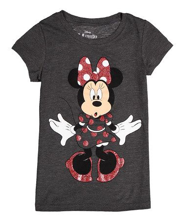 Another great find on #zulily! Charcoal Heather Minnie Mouse Tee - Girls by Jerry Leigh #zulilyfinds