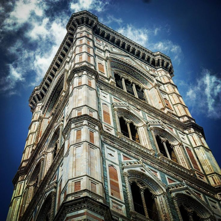 """Giotto's bell tower (Cattedrale di Santa Maria del Fiore), Firenze, Tuscany  #giotto #belltower #tower #bell #cateddrale #santamariadelfiore #cathedral…"""