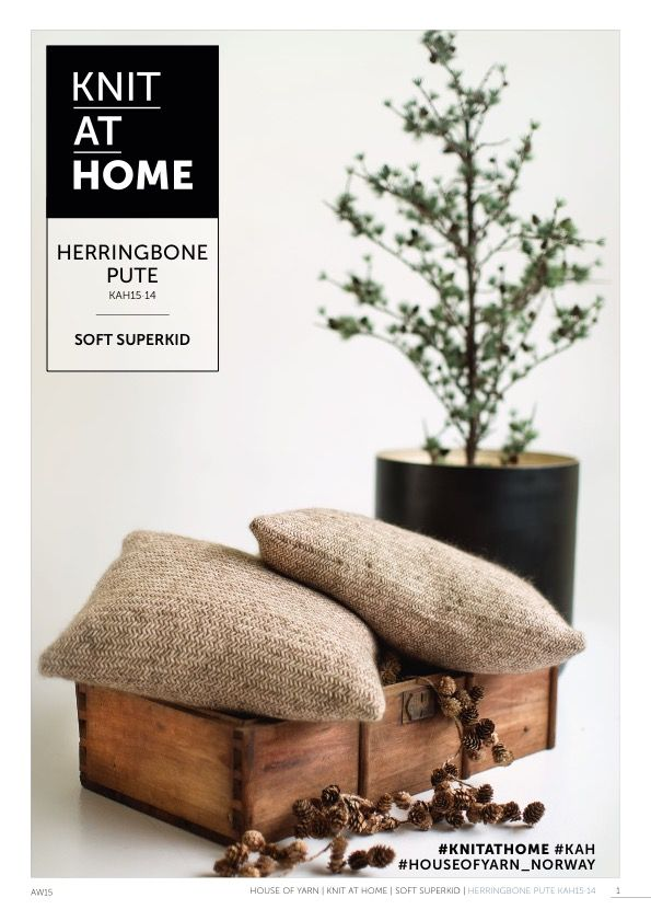 15-14 HERRINGBONE PUTE | free knitting pattern | knitted pillow | knitted interior | diy interior | knitting pattern