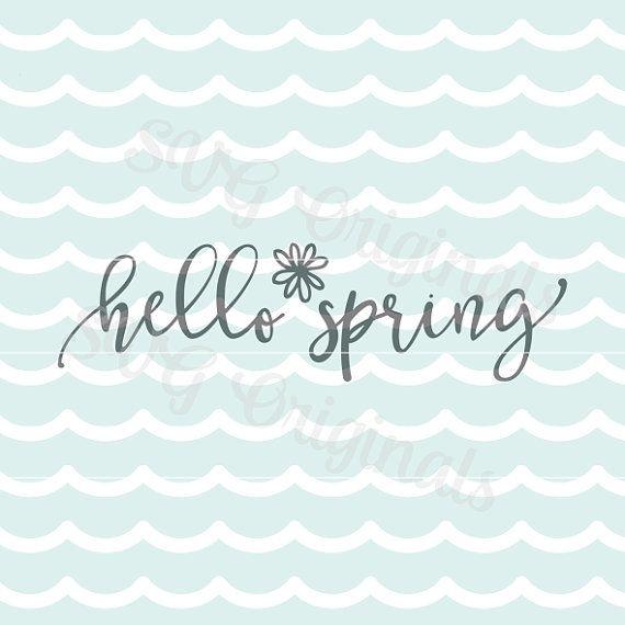 Archivo de Vector de SVG Pascua primavera Hola. ¡Bueno para muchos usos! Cricut explorar y mucho más. Feliz Pascua primavera Hola primavera SVG