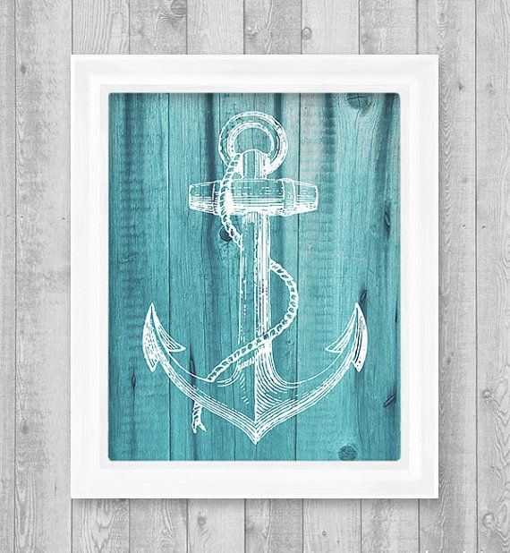 "Anchor Digital Printable Wall Art Print 8""x10"" (Jpeg File) - INSTANT DOWNLOAD - V231"