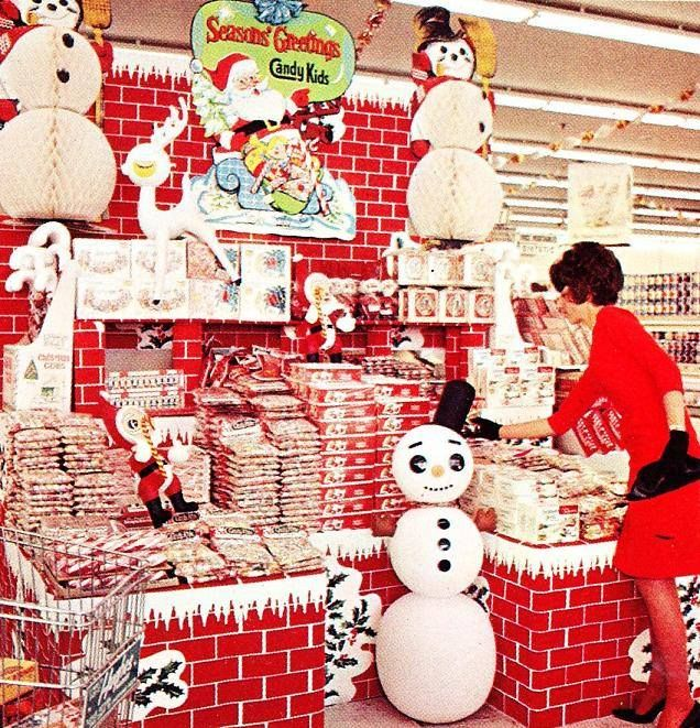 Christmas grocery store display (Hughes Market, Los Angeles, 1960's):