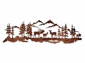 Elk Family Metal Wall Art