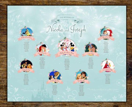 thème Disney – wedding planner 77- décoratrice 77 – plan de table mariage
