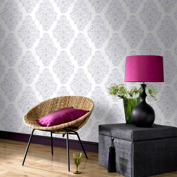 Floribunda Pearl Wallpaper - White Floral Wall Coverings by Graham  Brown