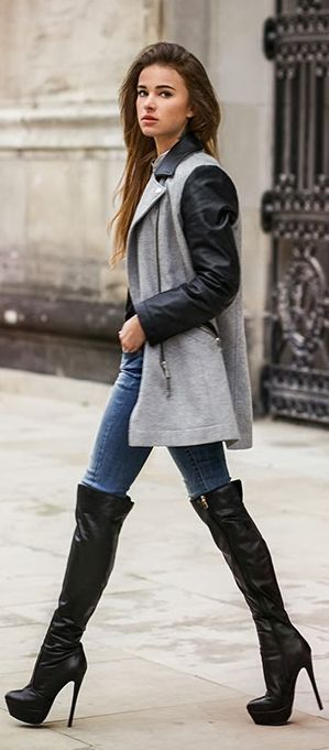 Jacket and long boots