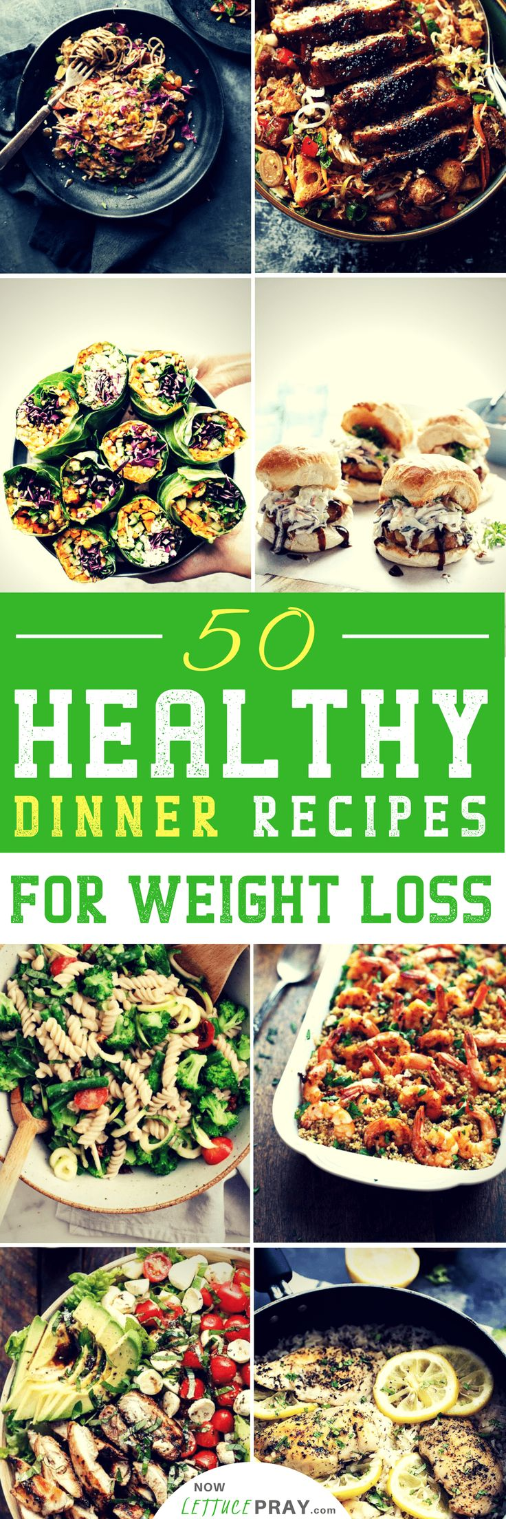 Dinner is a great opportunity to share a quality meal and conversation with friends and family. A hearty, well-balanced dinner that is rich in vitamins, minerals and macro-nutrients helps nourish your body throughout your (hopefully) 8+ hours of sleep. Check out these 50 healthy dinner recipes to help you lose weight.