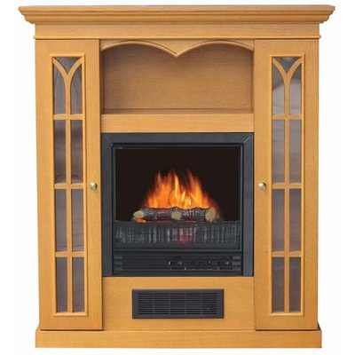 """Riverstone Industries Corporation Stay-Warm 36"""" Electric Fireplace Heater-Golden Oak: Fireplaces Fp36Gdo, Electric Cathedrals, Fireplaces Lowescom, Industrial Electric, Cathedrals Fireplaces, Narrow Fireplaces, Electric Fireplaces, Fireplaces 49120, Riverston Industrial"""