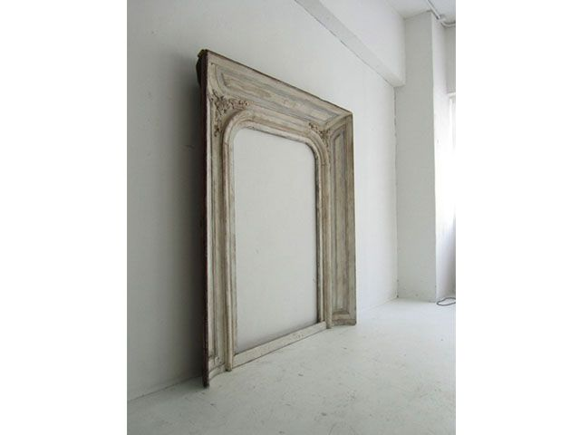 Boiserie - Fireplace Frame | Italy | This fantastic fireplace frame originally from France was later bought and used in an old countryside villa near Parma, Italy. | Beautiful wood carvings and the subdued colors