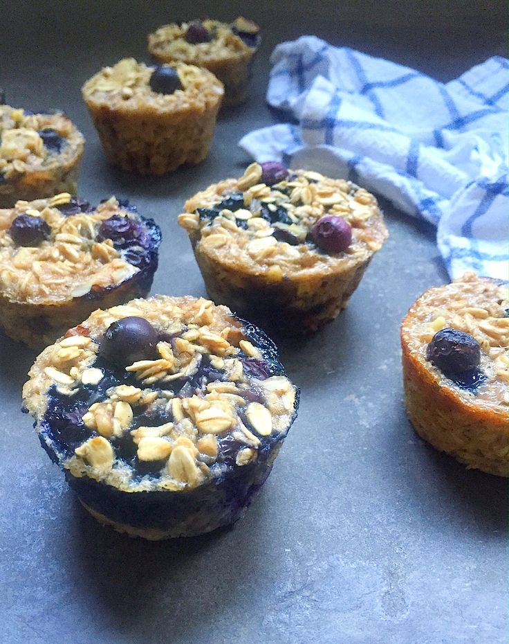 Blueberry Pecan Baked Oatmeal Cups are a super convenient, make-ahead meal that…