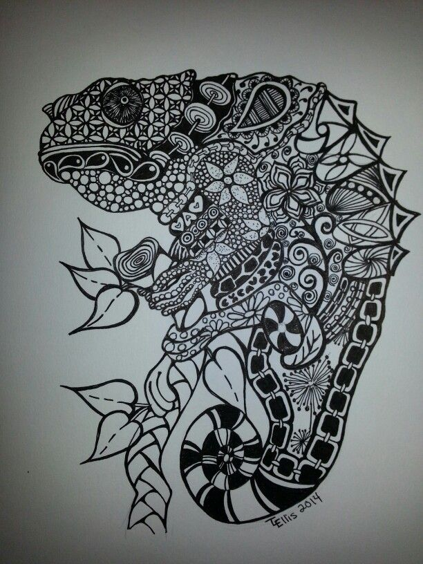 14 Best Zentangle Amphib N Rept Images On Pinterest