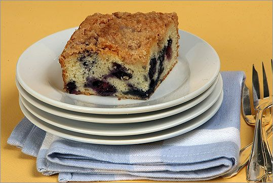 The Boston Globe's Best Blueberry Cake - Blueberry cake with Streusel Topping