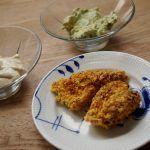 Kyllingenuggets lavet i ovnen med cornflakes - fedtfattig version men utrolig lækker og sprød crust