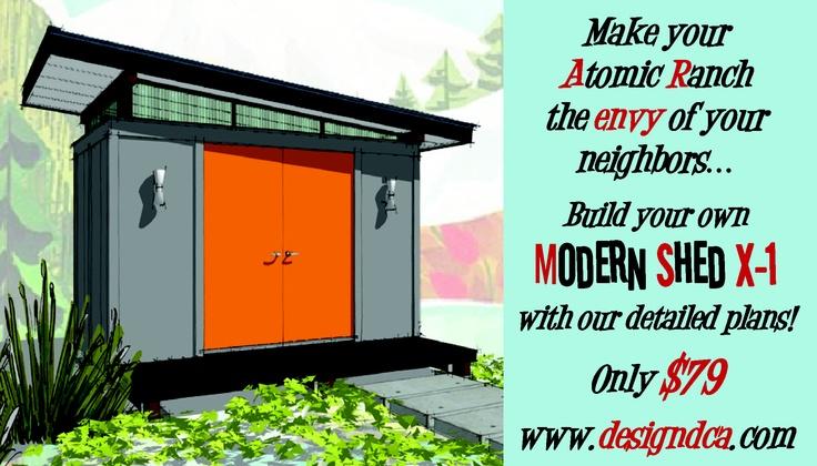 Atomic Ranch Mid Century Modern inspired shed httpwww