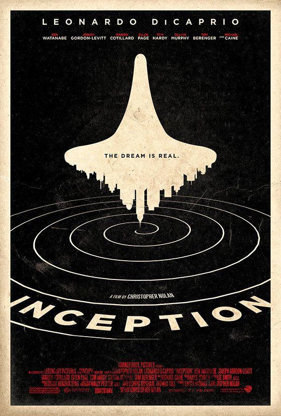 Inception (2010) - Minimal Movie Poster by Adam Rabalais