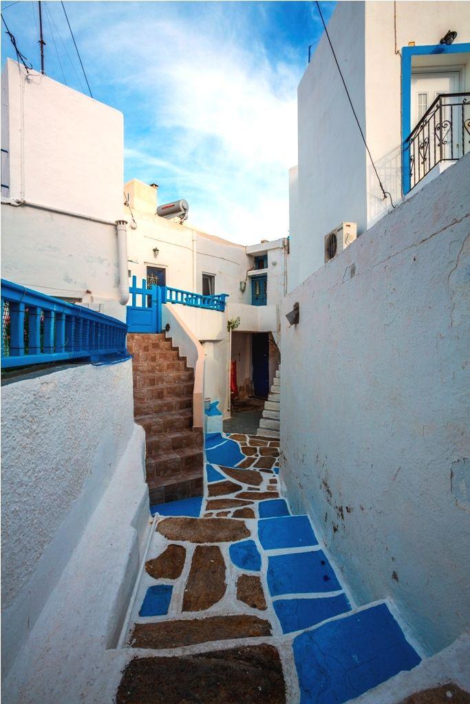 Typical white & blue greek island houses! Ios island, #Greece. #cruises #travel