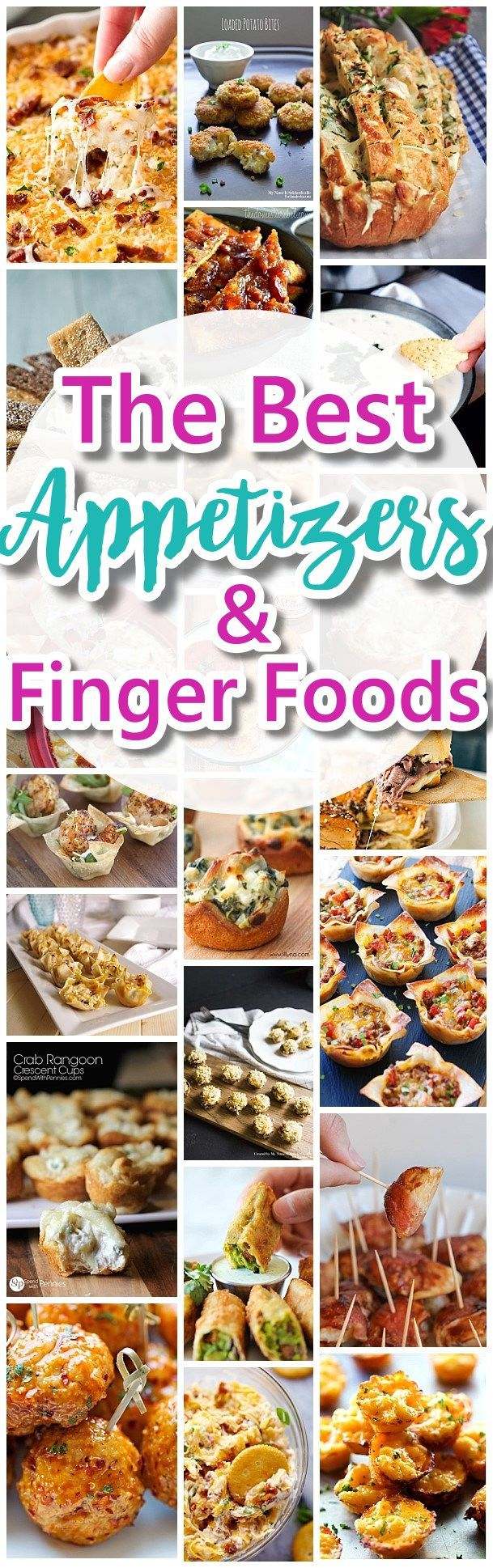 The Best Easy Party Appetizers, Delicious Dips and Finger Foods Recipes - Quick family friendly snacks for Holidays, Tailgating, New Year's Eve, Birthday and Super Bowl Parties - Dreaming in DIY