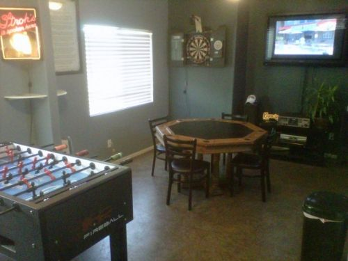 Garage man cave ideas on a budget google search garage for Cheap man cave decorating ideas