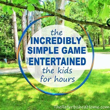 It took me about 30 seconds to put this game together, and it entertained the kids for HOURS! camping with kids, kids camping #camping #kids