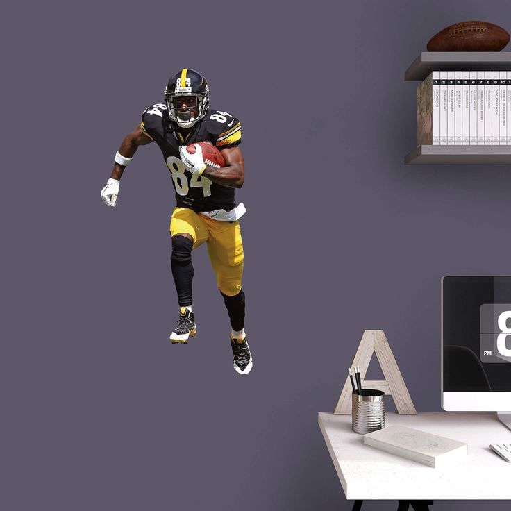 Fathead NFL Pittsburgh Steelers Antonio Brown Junior Wall Decal | from hayneedle.com