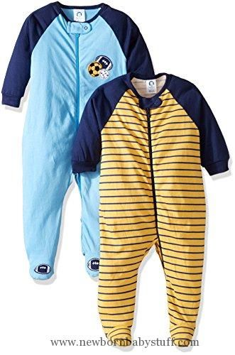 Baby Boy Clothes Gerber Baby Boys' 2 Pack Zip Front Sleep 'n Play, Multi/Sport, 3-6 Months