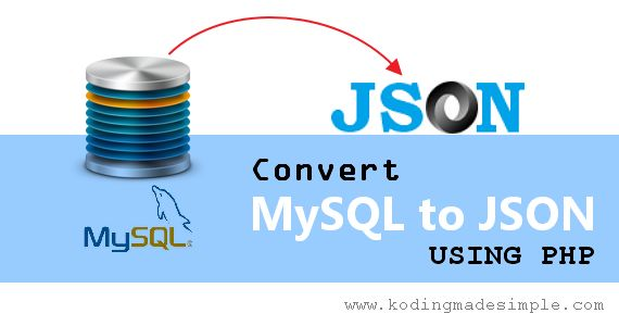 Convert MySQL to JSON using PHP.  Learn how to convert the mysql query result set to json format or file with PHP Programming Language.  Easily export mysql to json string with php json_encode() function.