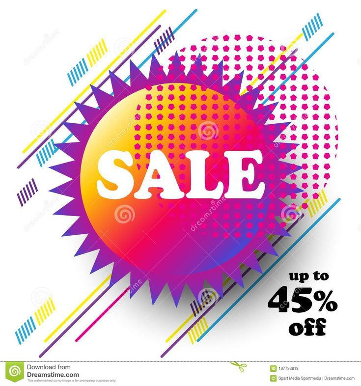 2018 Sale discount sticker flyer, modern banner graphic design concept button, logo, frame, symbol, coupon, gift card, gift tag, voucher. Different technique dynamic color abstract diagonal lines memphis background modern art template.