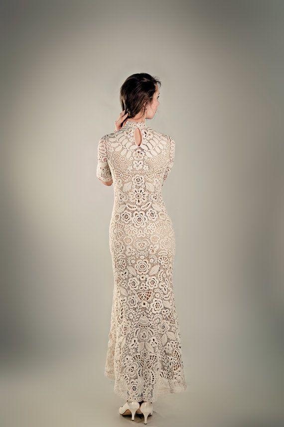 Crochet wedding dress Helena by Lumirelle on Etsy, $2500.00