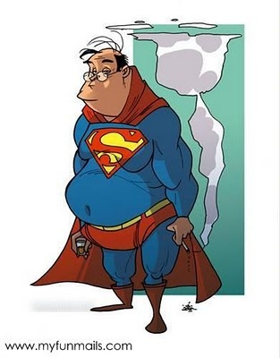 Image result for a pudgy superman cartoon