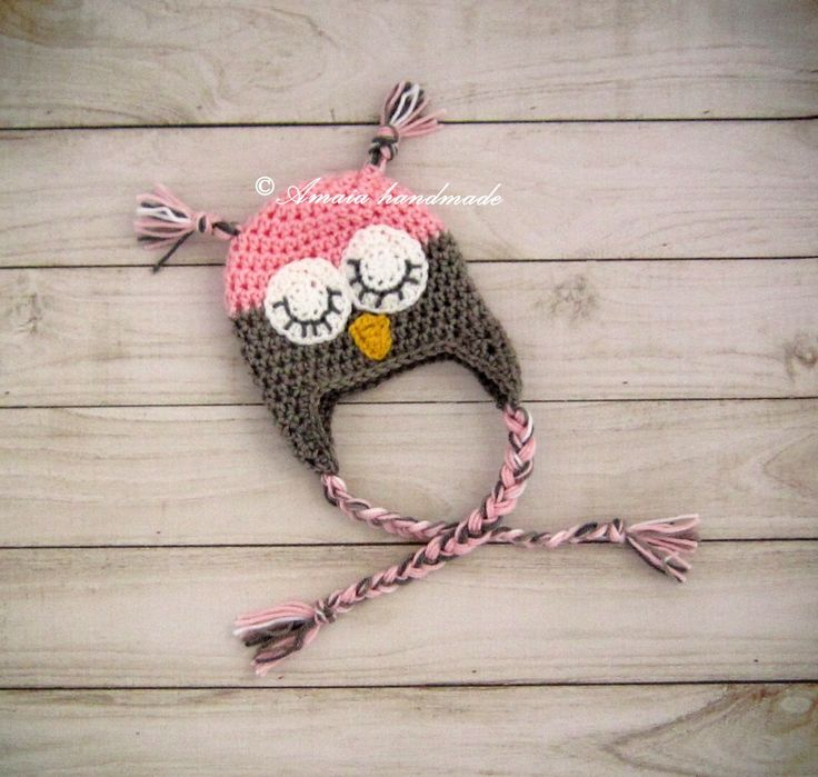 Baby owl hat, crochet owl hat, Owl hat, owl beanie, sleepy owl hat, baby girl owl hat, newborn owl hat, infant owl hat, crochet owl beanie by Amaiahandmade on Etsy