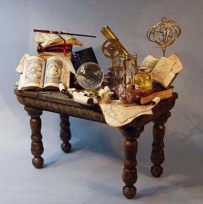 Wizard table... from a cool dollhouse