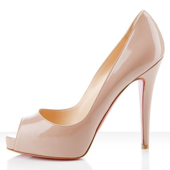 Christian Louboutin Very Prive 120mm Peep Toe Pumps Nude  $118.99