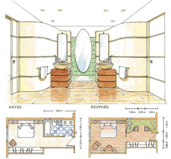 1105 best images about planos de casas peque as on for Planos de banos