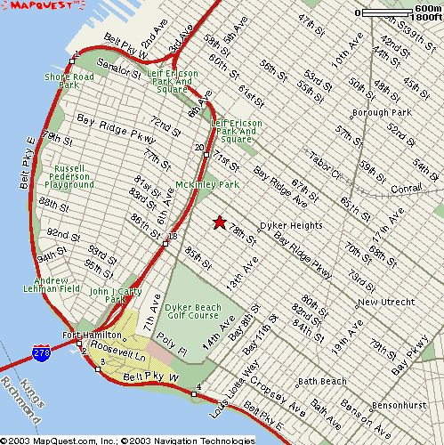 Bay Ridge, Brooklyn map