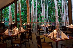 Paperbark restaurant Kewarra Beach Resort, Cairns. Cuisine at Kewarra Beach Resort & Spa is an absolute sublime culinary experience, with an internationally renowned kitchen brigade, and a culinary philosophy that focuses strongly on fresh local produce of our region.