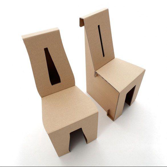 I mobili di design di cartone robusti e creativi di Kshop