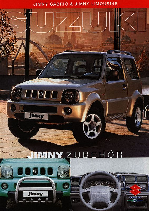 Suzuki Jimny Cabrio & Jimny Limousine Zubehör; 2001 | auto car brochure | by worldtravellib World Travel library - The Collection