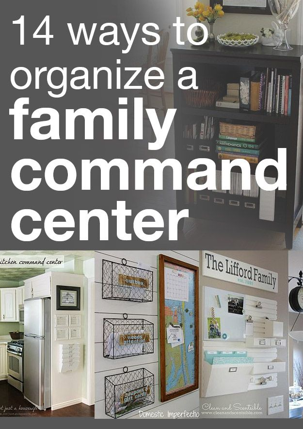 14 ways to organize a family command center. I like the chicken wire baskets.