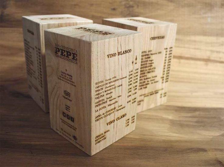 Las 25 mejores ideas sobre cartas de men en pinterest y for Bares en madera disenos