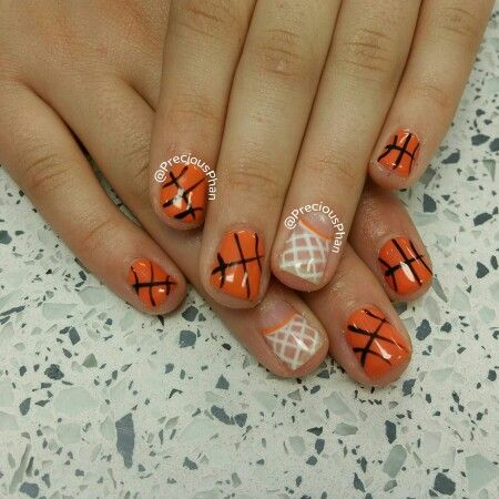 Go Phoenix Suns. Basketball nails