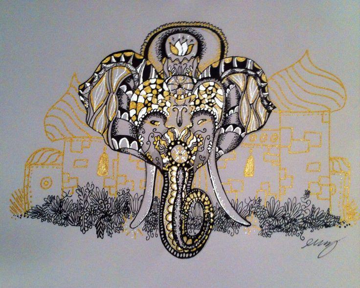 gold elephant e