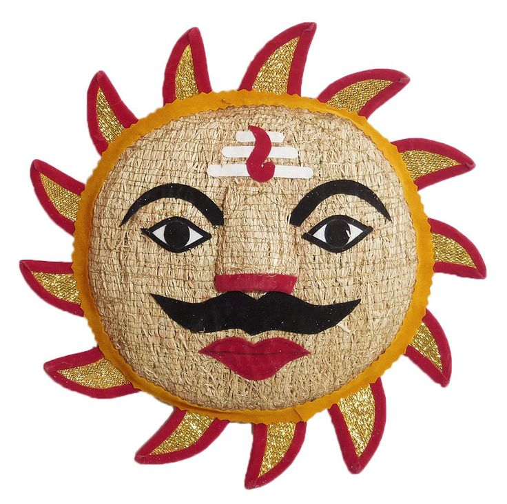 Sun God - Wall Hanging (Khus Root and Cloth)