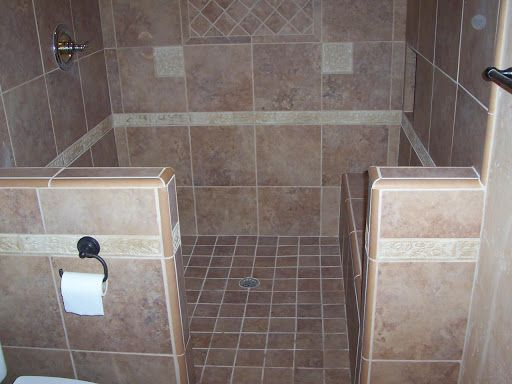 Small Bathroom Tile Shower Ideas Ceramic Tile Roman Bath