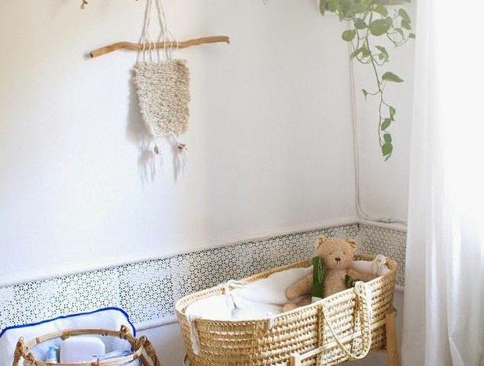 joli-berceau-bébé-pas-cher-en-rotin-et-bois-meubles-chambre-enfant