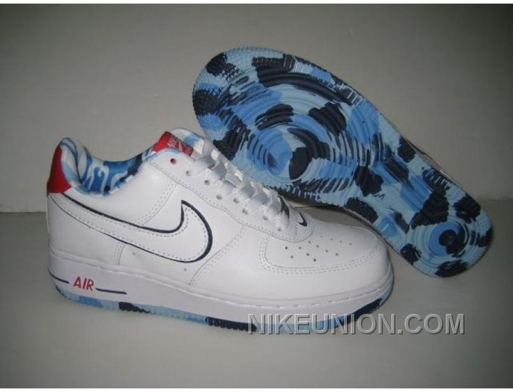 http://www.nikeunion.com/nike-air-force-1-low-white-black-blue-authentic.html NIKE AIR FORCE 1 LOW WHITE BLACK BLUE AUTHENTIC Only $58.60 , Free Shipping!